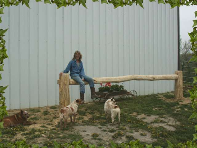 Mary Lisa & our new hitching post